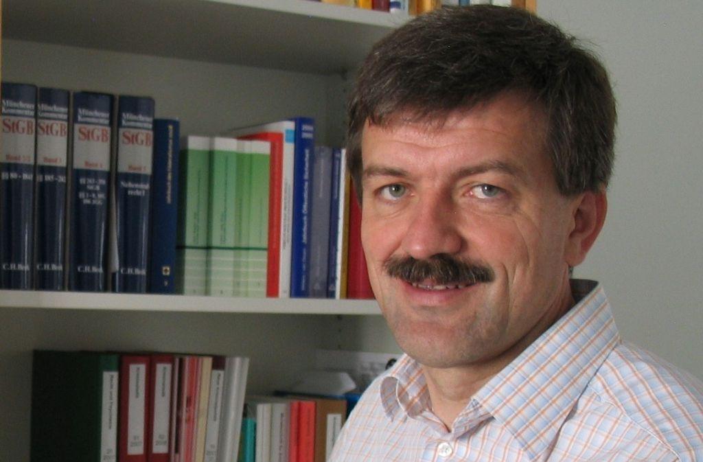 Seit 2011 ist der 54-jährige  Jörg Kinzig Direktor des Instituts für Kriminologie der Universität Tübingen. Foto: dpa