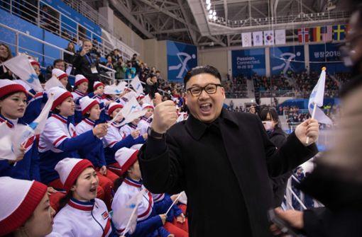 Doppelgänger von Kim Jong Un besucht Koreas Eishockey-Spiel