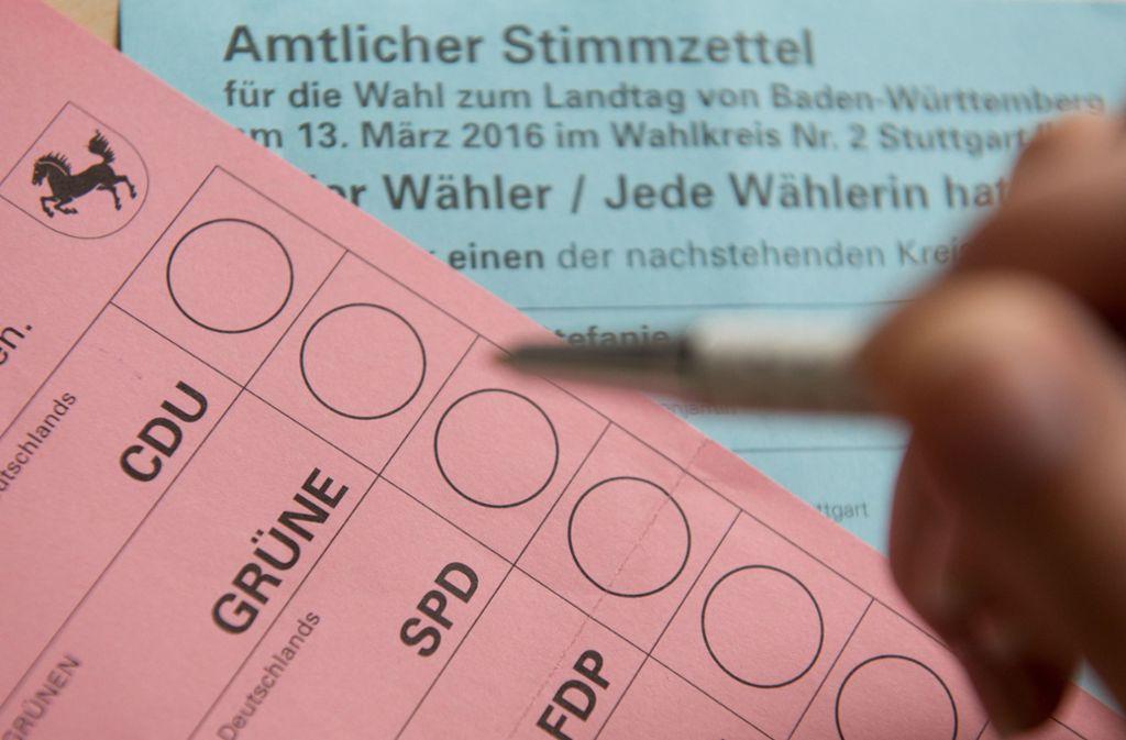Nach der Wahl ist vor der Wahl: Seit dem letzten Urnengang für das Landesparlament (hier ein Wahlzettel) sind zwar erst dreieinhalb Jahre vergangen, doch für 2021 sortiert sich bereits das Bewerberfeld. Foto: dpa/Bernd Weißbrod
