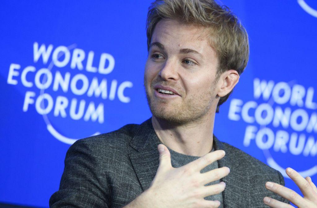 Nachdem Nico Rosberg wie sein Vater Keke Champion geworden war, stieg er aus der Formel 1 aus  – und ist seither in zahlreichen Diskussionsrunden zu Gast. Foto: Keystone