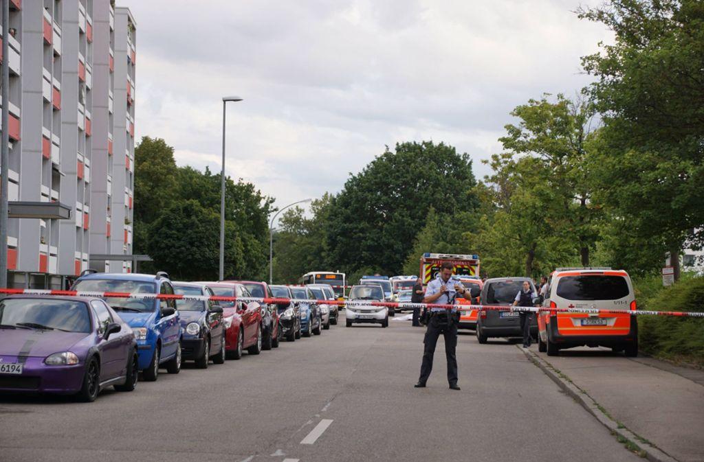 Die grausame Tat im Stadtteil Fasanenhof erschüttert Stuttgart. Foto: 7aktuell.de/Andreas Werner
