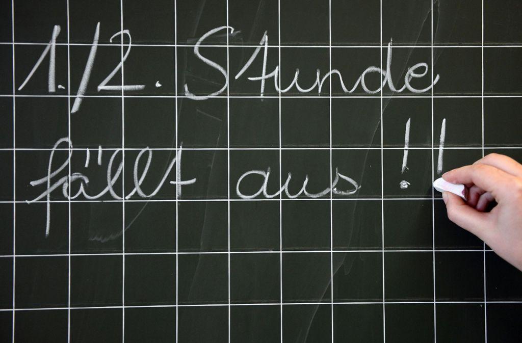 Der Unterrichtsausfall bleibt ein stetes Ärgernis an den Schulen im Südwesten. Foto: dpa