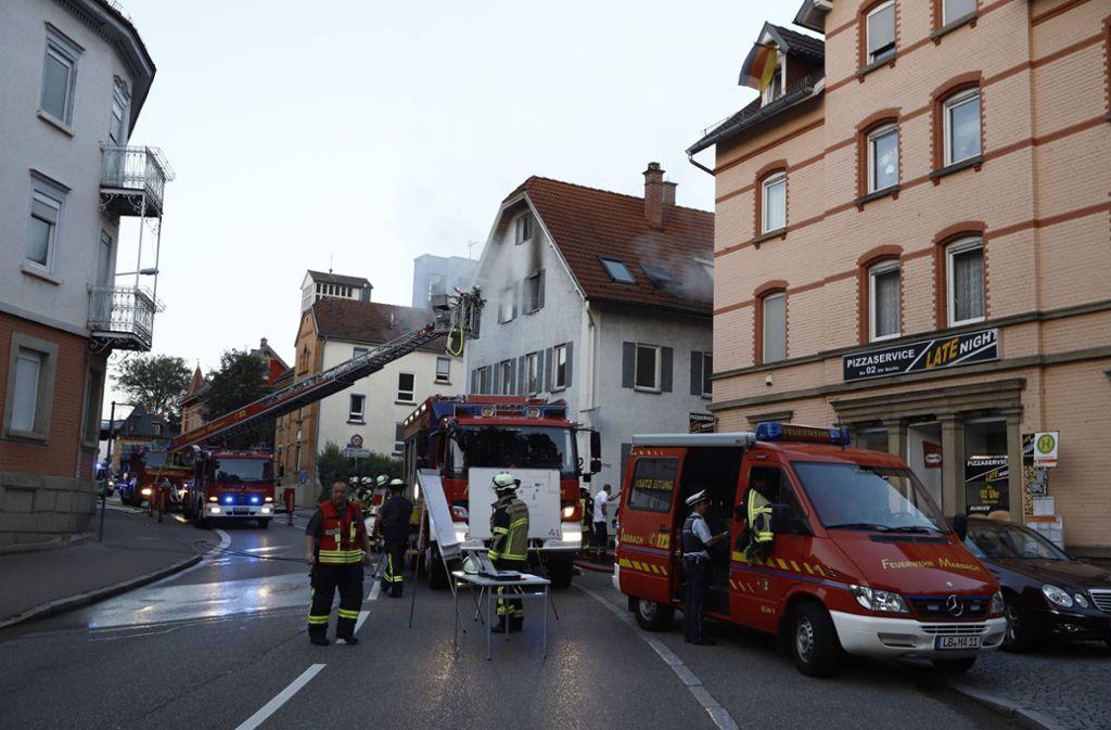 Die Feuerwehr hat den  Brand unter Kontrolle. Foto: 7aktuell.de/Simon Adomat