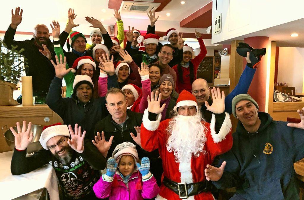 Im Dezember waren die Läufer von Run To The Pub weihnachtlich verkleidet. Foto: privat
