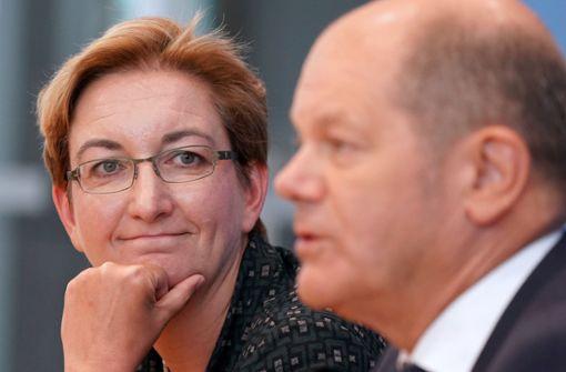 """Ein """"dekoratives Salatblatt"""" ist Klara Geywitz nicht"""