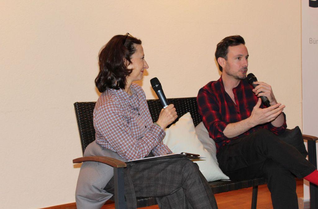 Im Gespräch mit Martina Klein erzählt er von sich und seiner Karriere. Foto: Jacqueline Fritsch