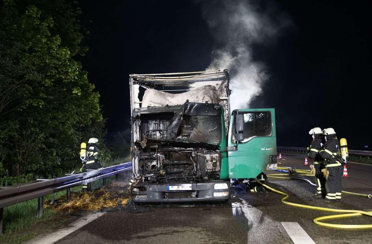 Die Einsatzkräfte konnten den Brand schließlich löschen. Foto: SDMG