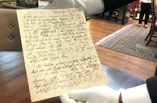 Originalbrief von Schiller könnte 20.000 Euro bringen