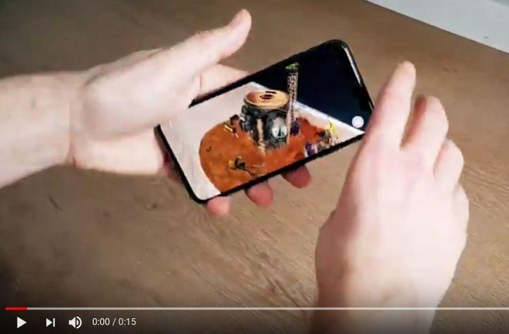 Die Augmented-Reality-App der Fantastischen Vier ist in Zusammenarbeit mit der Produktionsfirma Headraft entstanden. Foto: Screenshot YouTube/Die Fantastischen Vier