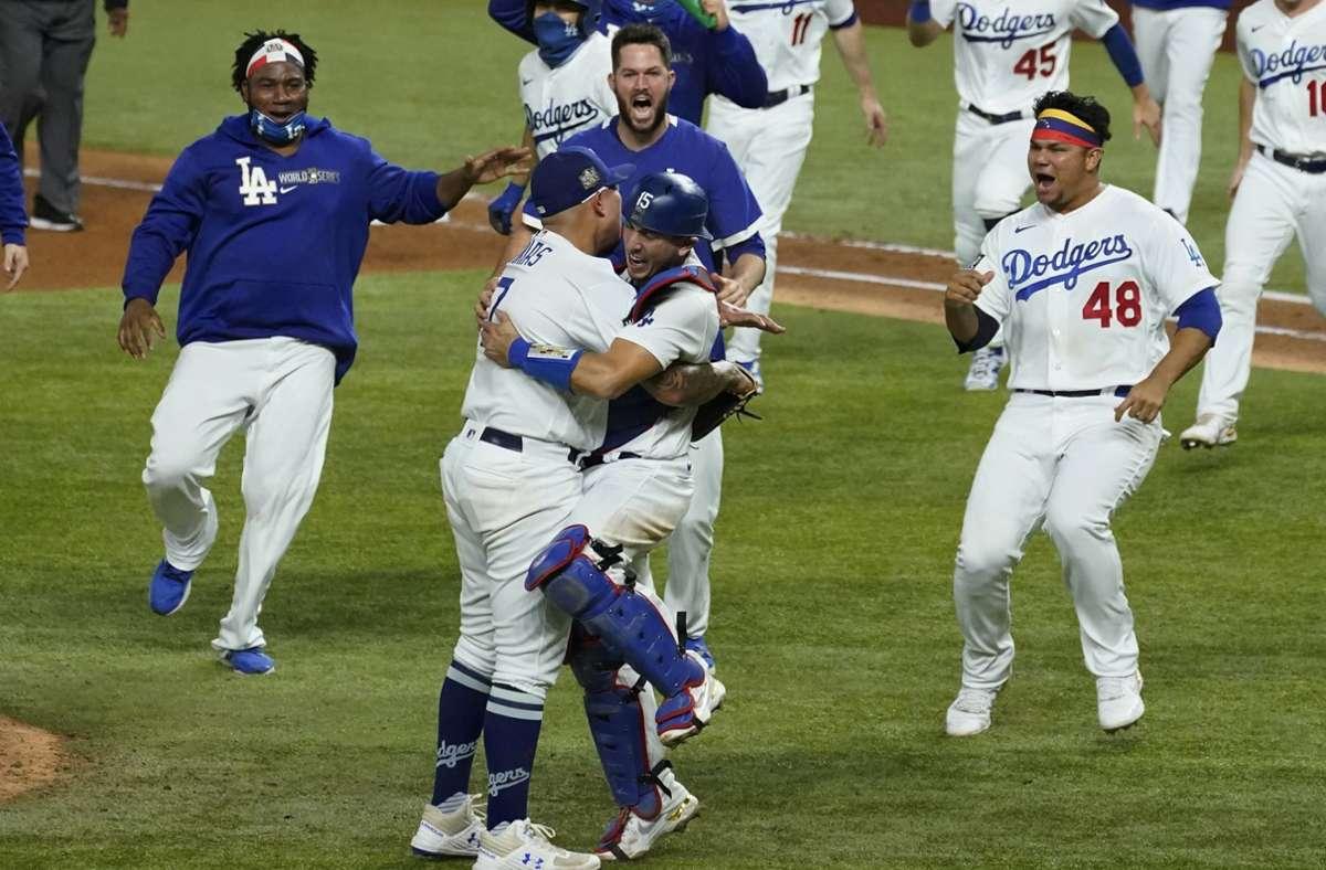 Grenzenloser Jubel bei den Los Angeles Dodgers Foto: dpa/Tony Gutierrez