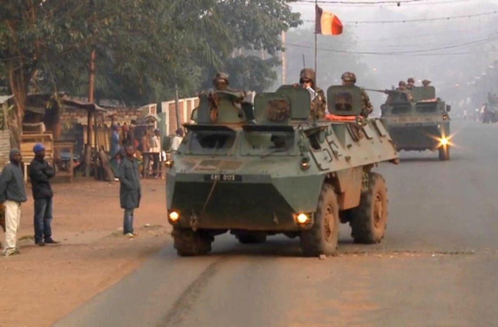 Die EU will die französischen Truppen in Zentralafrika entlasten. Foto: DPA