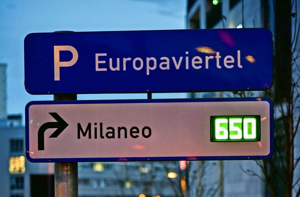 Noch 650 Parkplätze am frühen Abend in der Milaneo-Tiefgarage:  Das klingt viel. Beim Midnightshopping sind die ruck,zuck weg. Und dann wird falsch geparkt. Foto: Lg/Kovalenko