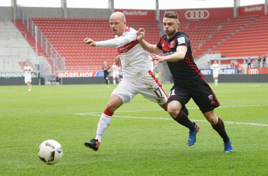 Tobias Werner hat dem VfB Stuttgart in Ingolstadt einen Testspielsieg beschert. Foto: Pressefoto Baumann