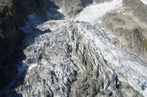 """Sorge um """"kranken"""" Gletscher am Mont Blanc"""