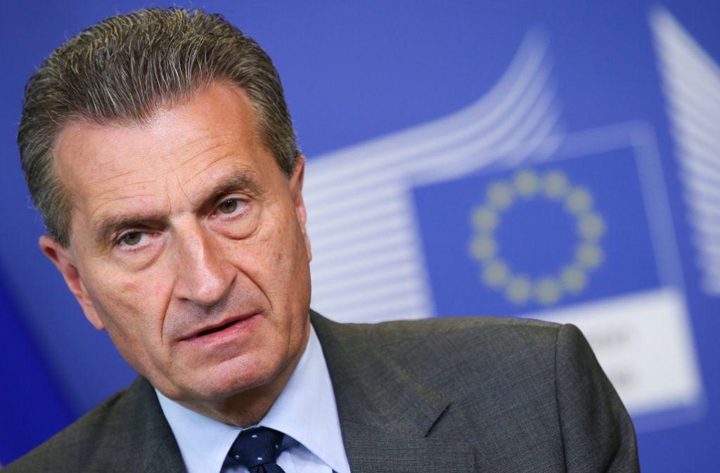 EU-Kommissar Günther Oettinger bestreitet, in Ungarn Atomgespräche geführt zu haben. Foto: EPA