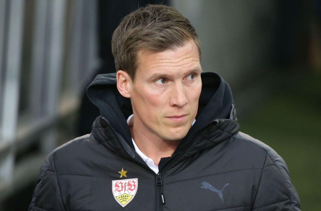 Der Trainer Hannes Wolf gerät beim VfB zunehmend unter Druck. Foto: Baumann