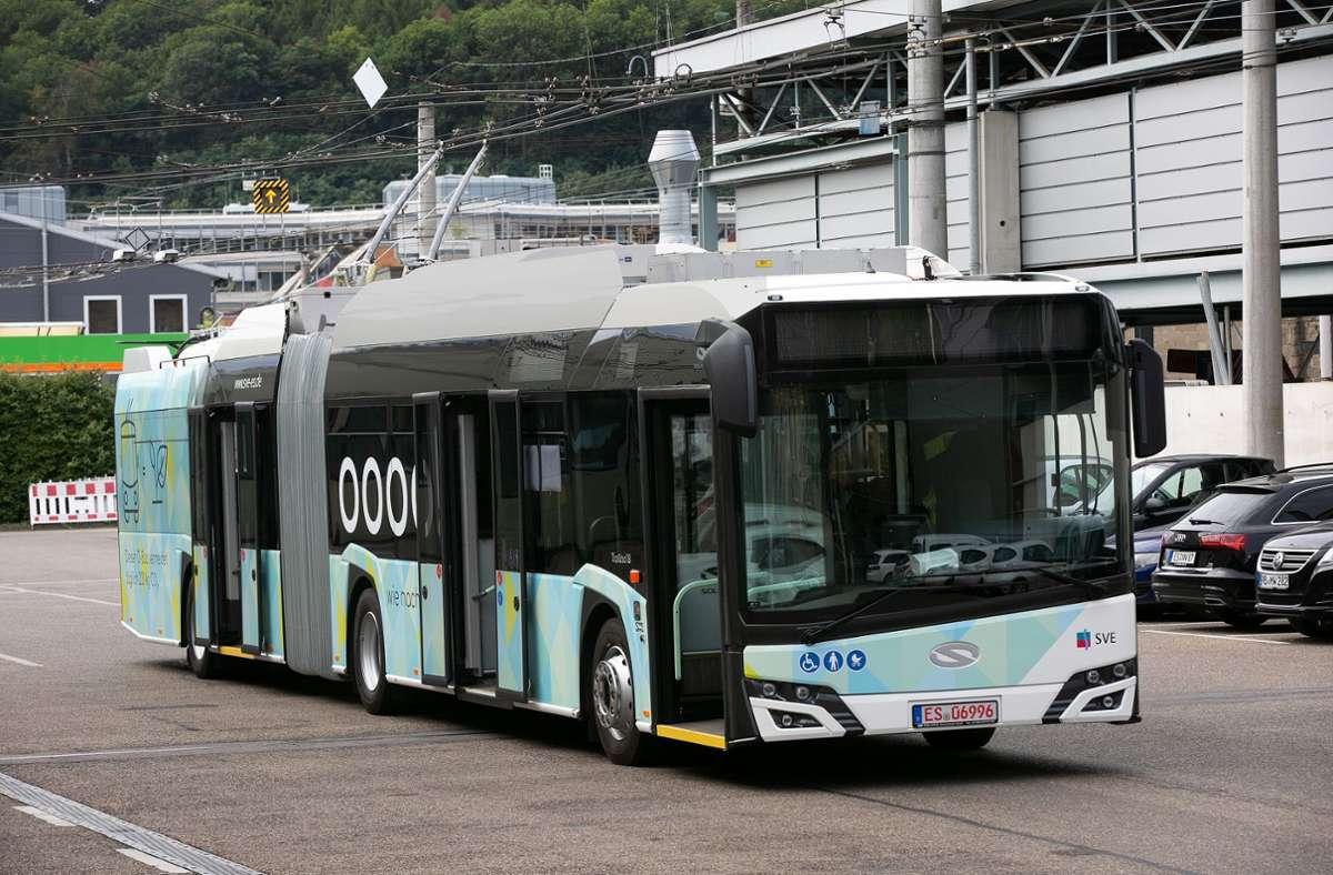 Mehrere Buslinien der SVE verkehren an diesem Dienstag nicht, weil das Unternehmen bestreikt wird. Foto: Ines Rudel