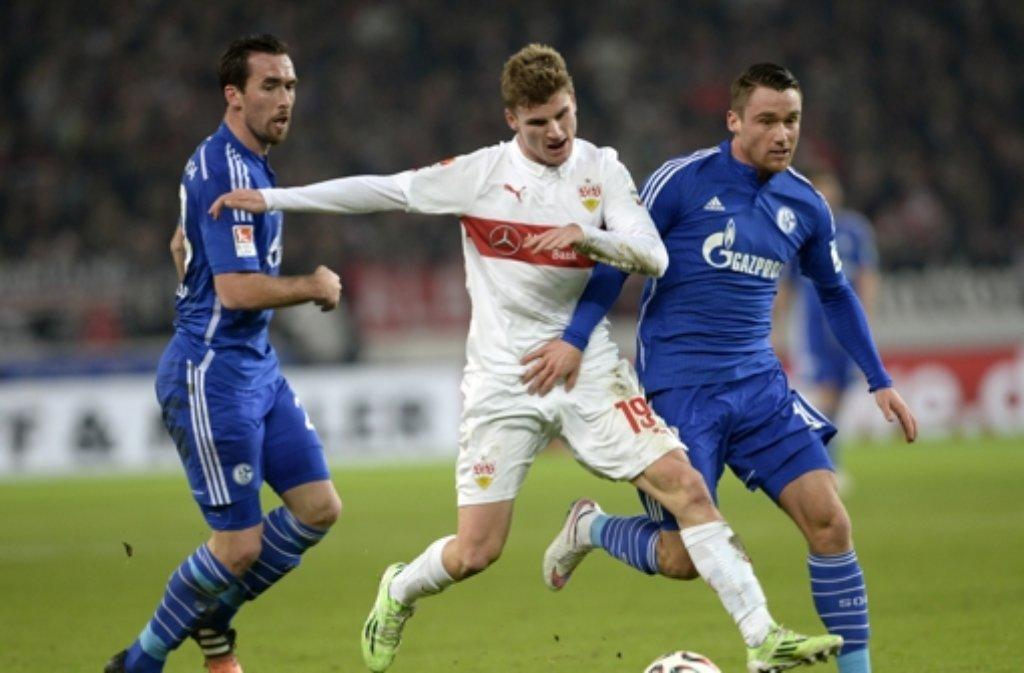 Der VfB Stuttgart hat sich verzweifelt gewehrt gegen Schalke - ohne Erfolg. Foto: dpa
