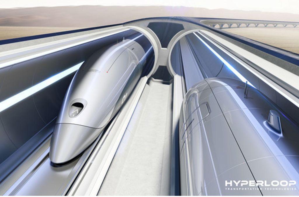 In Hamburg soll künftig ein Hyperloop für Containertransport in Hochgeschwindigkeit sorgen. Foto: Hyperloop Transportation Technology