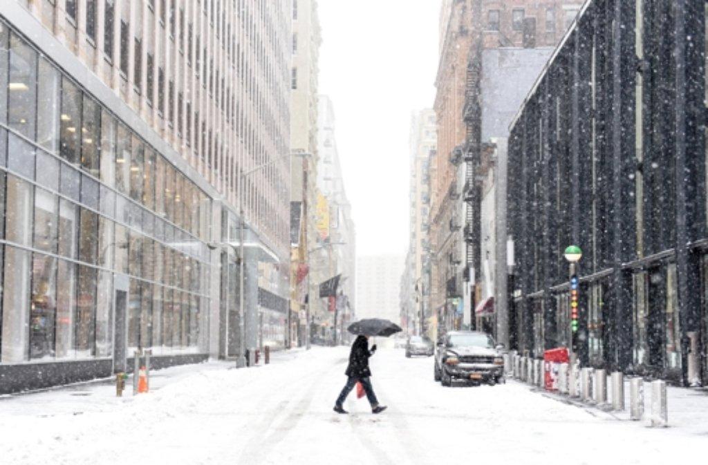 Schneesturm In Usa
