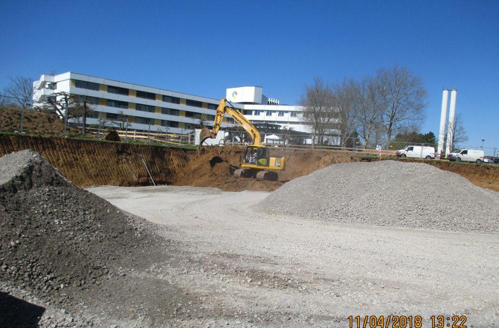 Neben dem Krankenhaus wird gerade eine Strahlentherapiezentrum gebaut. Für die Freien Wähler ist das ein gute Chance, in Leonberg einen onkologischen Schwerpunkt zu etablieren. Foto: privat