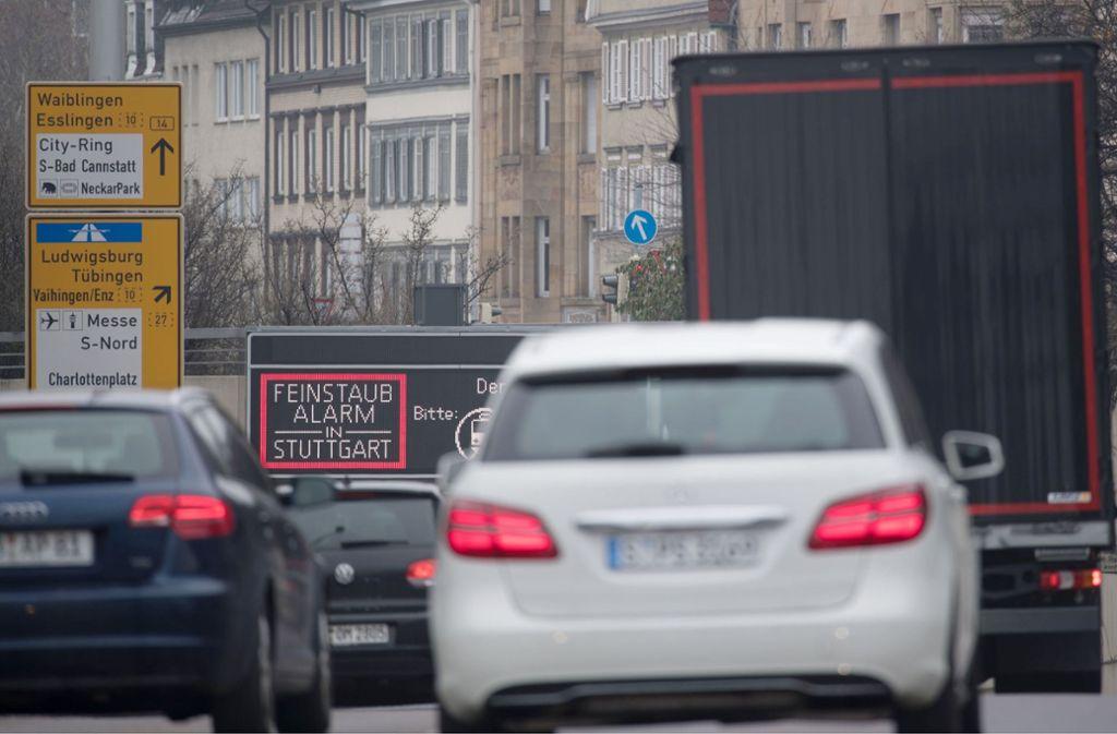 Der Feinstaubalarm in Stuttgart endet. Foto: dpa