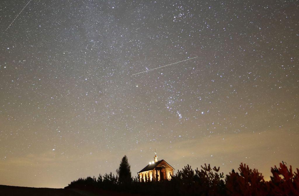 So schön klare Sicht auf die Geminiden wird es in Stuttgart in diesem Jahr nicht geben. Foto: AP