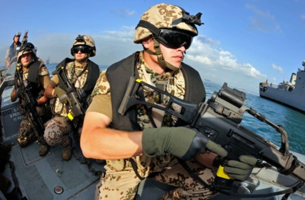 Schon jetzt operieren die Marinesoldaten der Bundeswehr von Fregatten aus. Foto: dpa