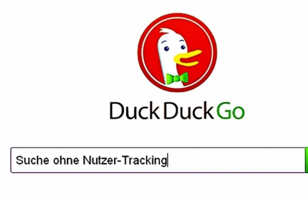 Eine von mehreren Alternativen zu Google ist DuckDuckGo Foto: StZ