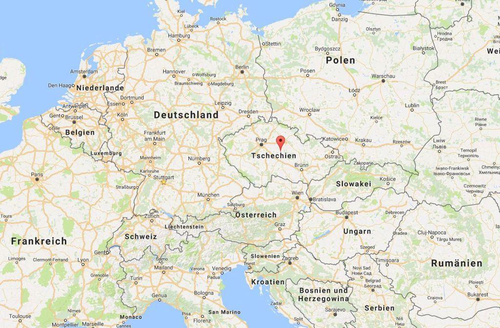 Tachov-Mit einer Jahrzehnte alten Karte der damaligen Tschechoslowakei hat ein Autofahrer aus Finnland versucht, seinen Weg durch das heutige Tschechien zu finden.Screenshot:Google Maps Foto: