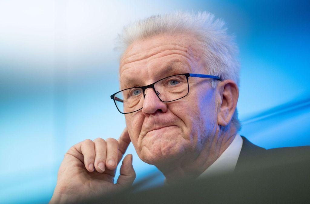 Ministerpräsident Winfried Kretschmann durfte sich über einen Rekord bei Fördergeldern vom Bund freuen. Foto: dpa