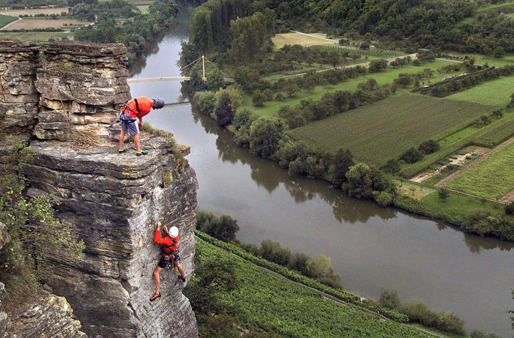 Ein Dorado für Kletterer: Die Hessigheimer Felsengärten. Aber auch wer es eher gemütlich mag, wird bei unseren Ausflugstipps für den Kreis Ludwigsburg fündig. Foto: FACTUM-WEISE
