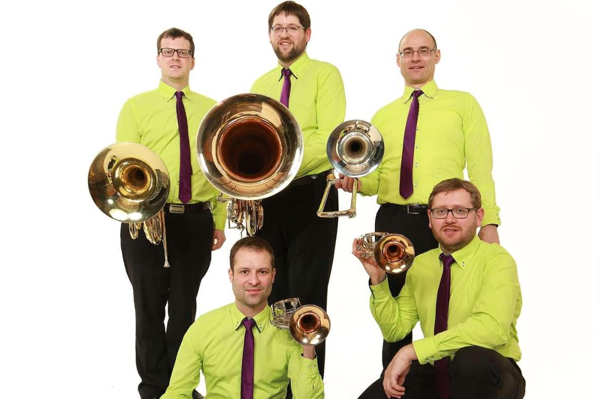 Das Blechbläser-Quintett emBRASSment gastiert am Samstag in der Sindelfinger Martinskirche. Foto: emBRASSment