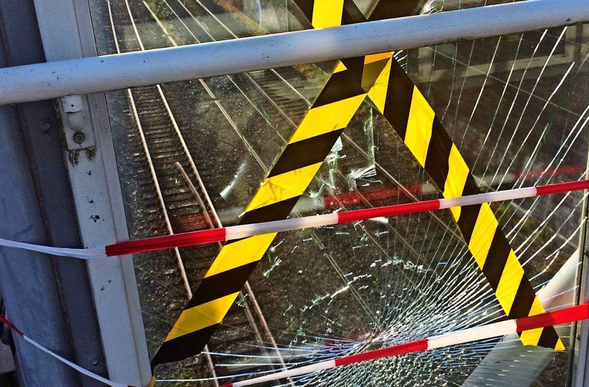 Immer wieder kommt es am S-Bahnhalt Österfeld zu Sachbeschädigungen. Foto: privat