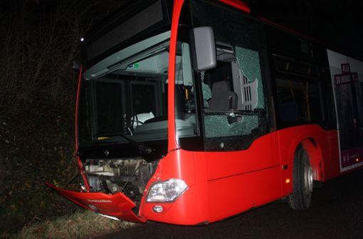 Betrunkener schrottet mit geklautem Bus zwei Streifenwagen