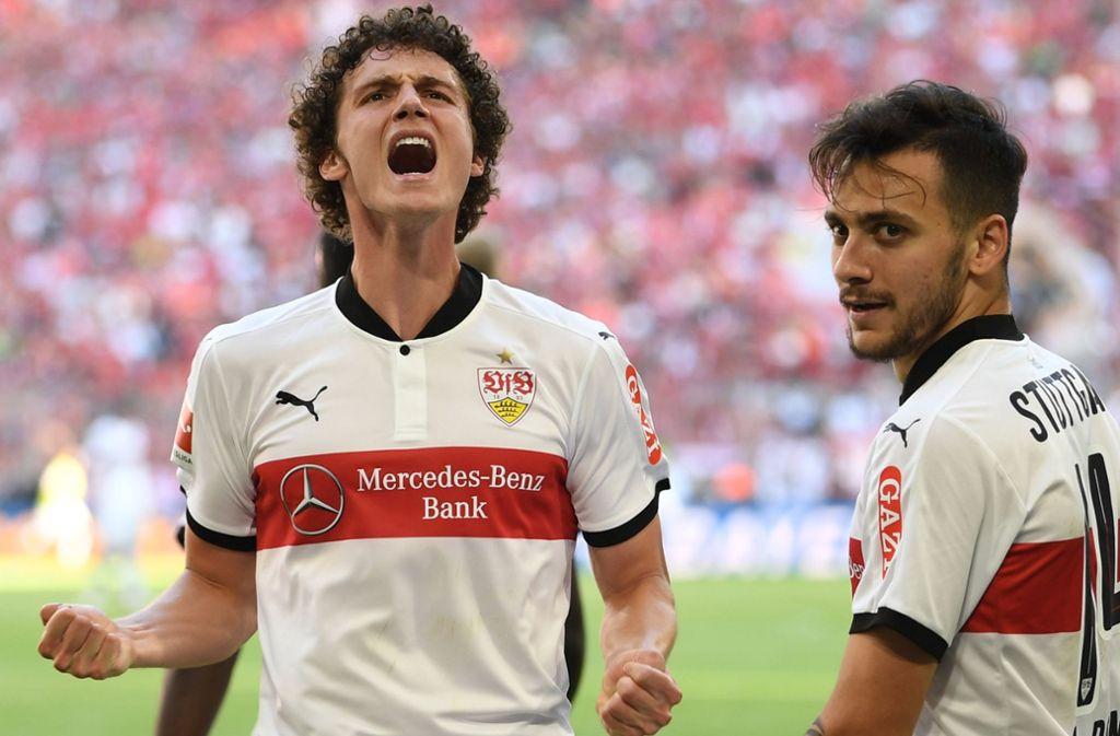 Ist am Mittwoch wieder ins VfB-Training eingestiegen: Benjamin Pavard. Foto: dpa