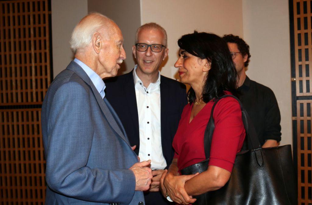 Hermann Baudinger, Reinhold Weber und Muhterem Aras (von links) Foto: Eva Herschmann