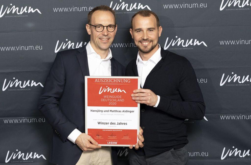Hansjörg (links) und Matthias Aldingetr Foto: Vinum/Jana Kay