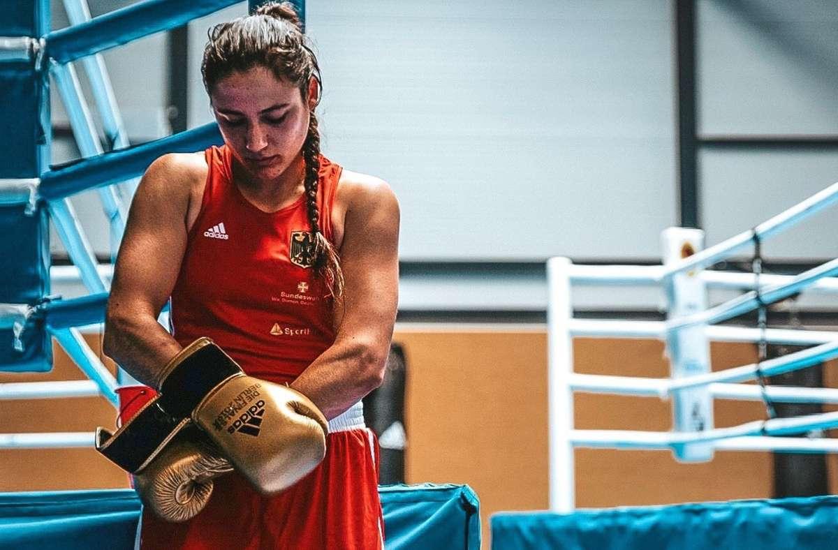 Eine starke, mutige und reflektierte Boxerin: Sarah Scheurich Foto: Marten Lange