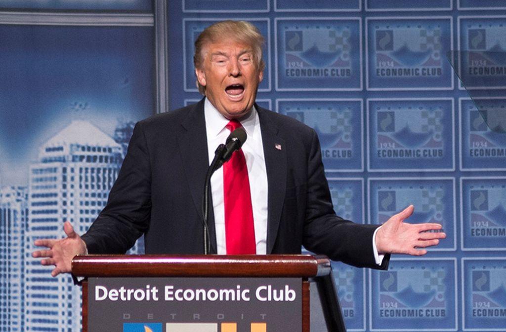 Trump macht in seiner Rede zur Wirtschaftspolitik viel Wahlkampf. Foto: dpa
