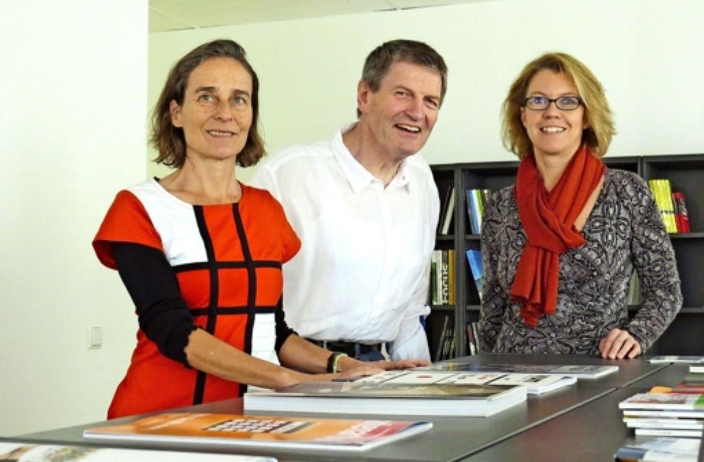 Die Geschäftsführer Bettina Klett, Norbert Daldrop und Petra Kiedaisch Foto: Kathrin Thimme