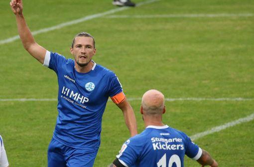 Stuttgarter Kickers feiern Kantersieg beim FC-Astoria Walldorf II