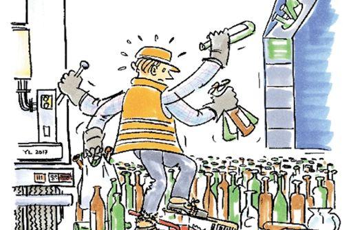 Entsorger entschuldigt sich für Flaschen-Chaos