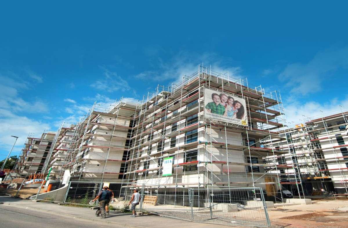 Die SWSG lässt neue Wohnungen bauen und ältere sanieren. Sie nimmt  sich viel vor – jetzt   auch beim   Klimaschutz. Foto: dpa/Marijan Murat