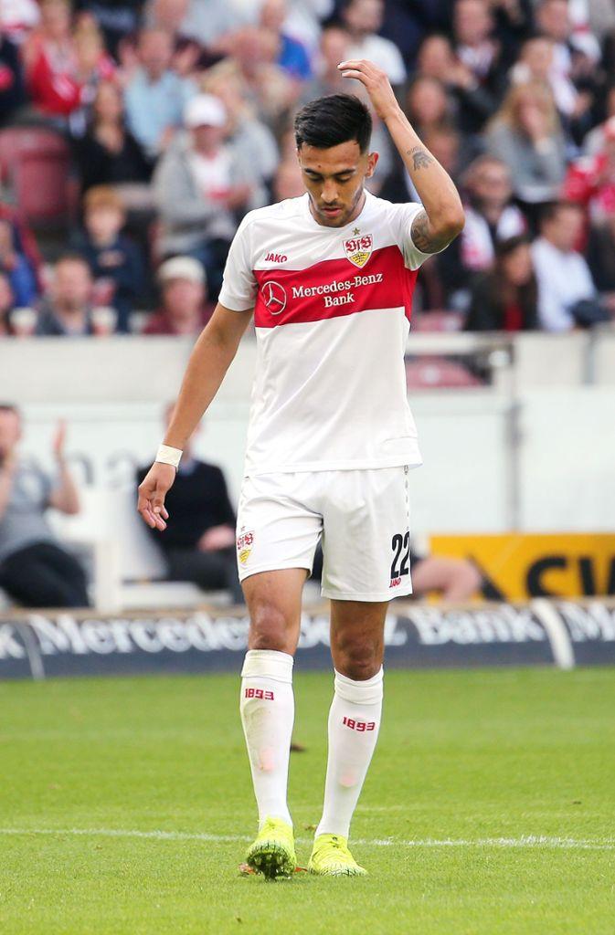 Nicolas Gonzalez war von der ersten Halbzeit enttäuscht. Foto: Pressefoto Baumann