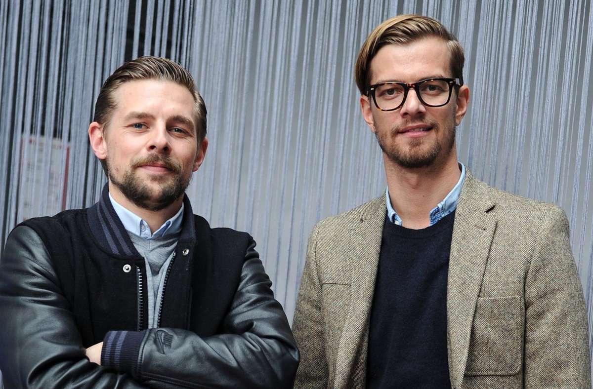 """Klaas Heufer-Umlauf (l.) und Joko Winterscheidt hatten sich die Sendezeit für den Film  in der  Show """"Joko & Klaas gegen ProSieben"""" erspielt. Foto: dpa/Marius Becker"""