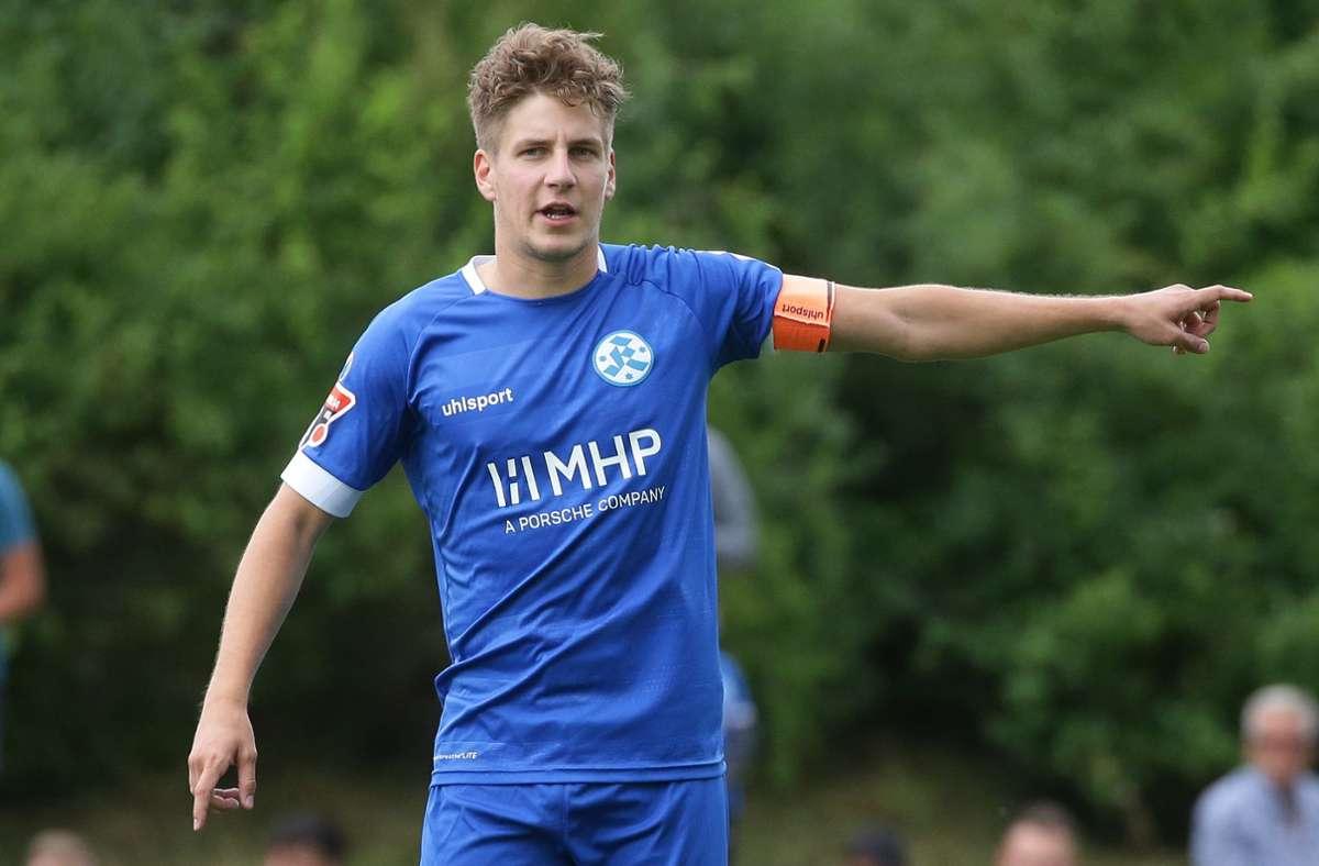 Nico Blank war bisher immer gesetzt, jetzt muss der Mittelfeldspieler härter denn je  um seinen Stammplatz kämpfen. Foto: Baumann/Hansjürgen Britsch