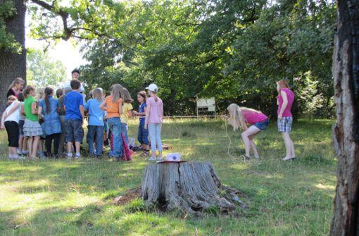Kinder stören im Naturschutzgebiet