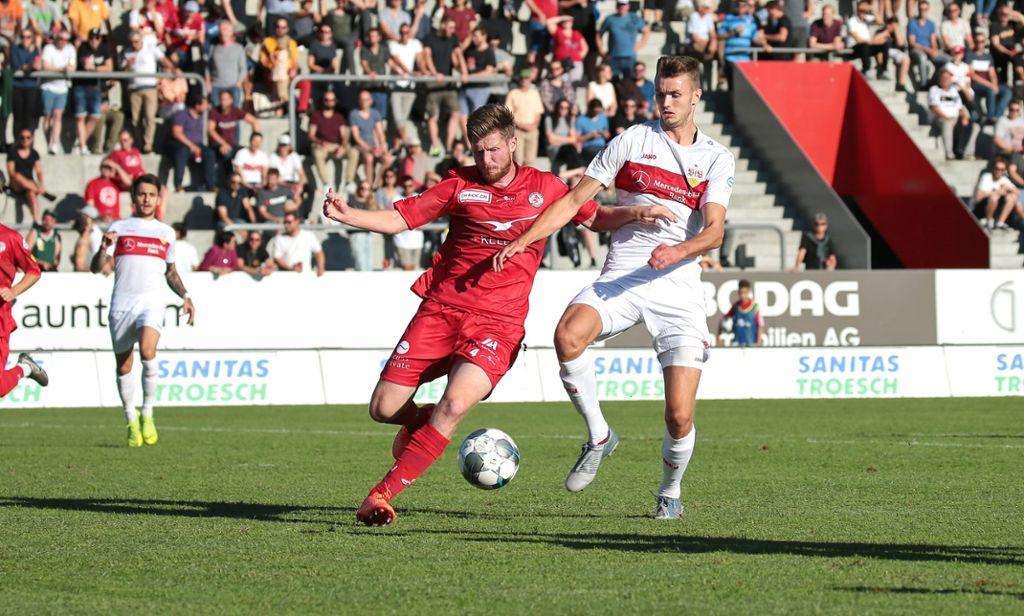 Für den VfB Stuttgart steht an diesem Mittwoch in Winterthur ein Testspiel an. Foto: Pressefoto Baumann