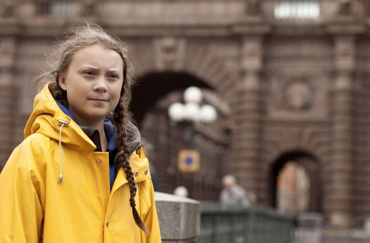 Greta Thunberg streikt  für das Klima. Foto: AP/Courtesy of Hulu